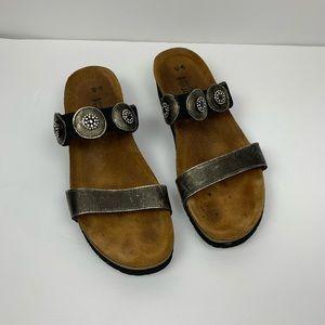 Naot Marissa Metallic Rhinestone Sandal Clogs 40